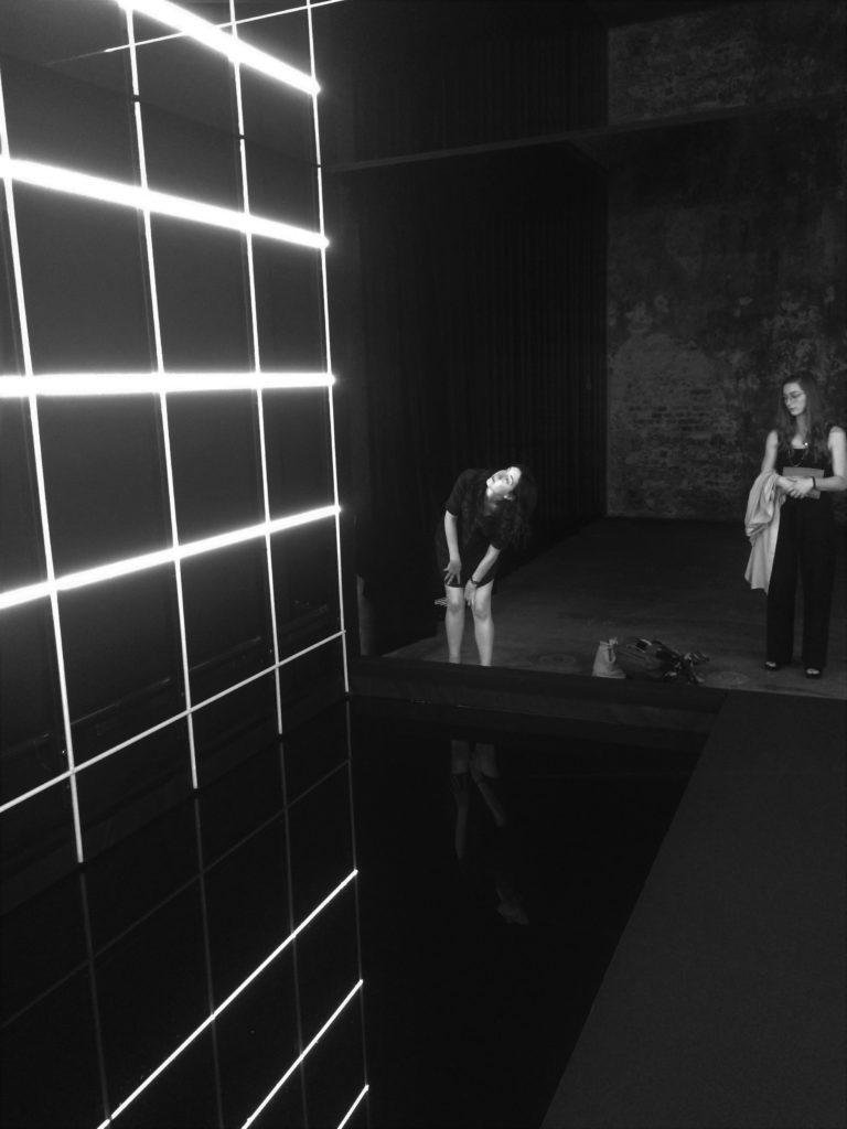 "Looking outside of Art Artist Jacqueline Hen's ""Light High"" Art Installation at Light Art Centre Unna"